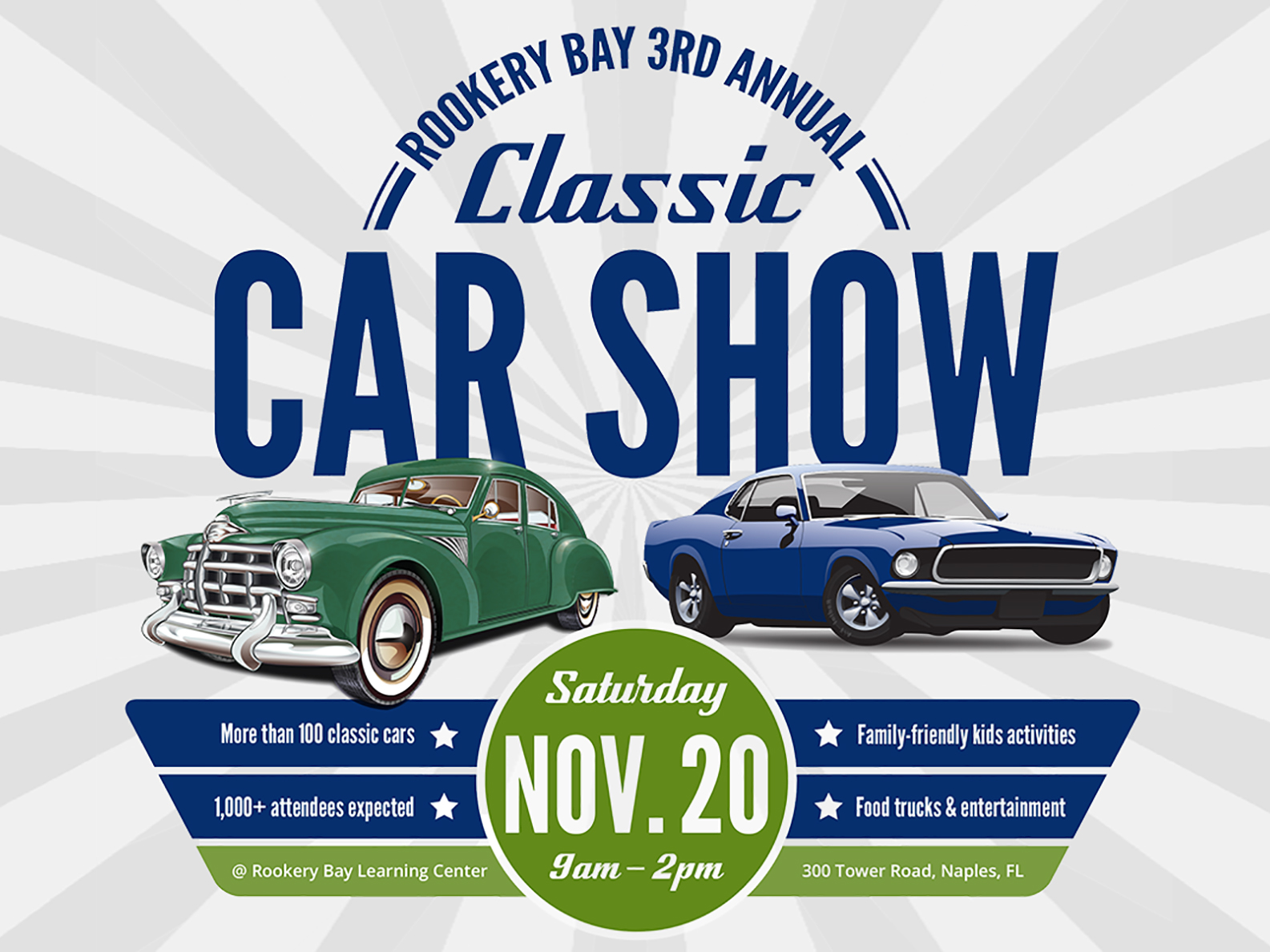 3rd Annual Classic Car Show | Annual Events | Rookery Bay Research Reserve