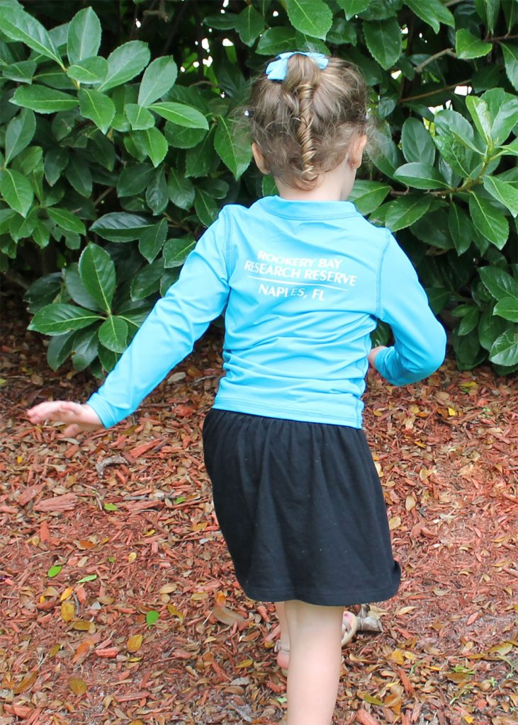Lazy Turtle | Blue Long Sleeve Kids Shirt Back | Nature Store | Rookery Bay Research Reserve