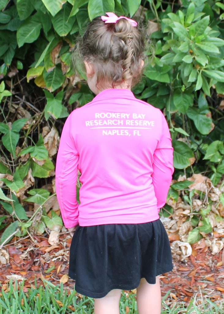 Lazy Turtle | Pink Long Sleeve Kids Shirt Back | Nature Store | Rookery Bay Research Reserve