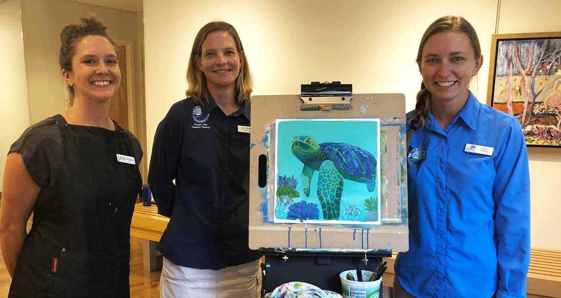 Artist Dora and Sea Turtle Lunch & Learn Presenters | Rookery Bay Research Reserve