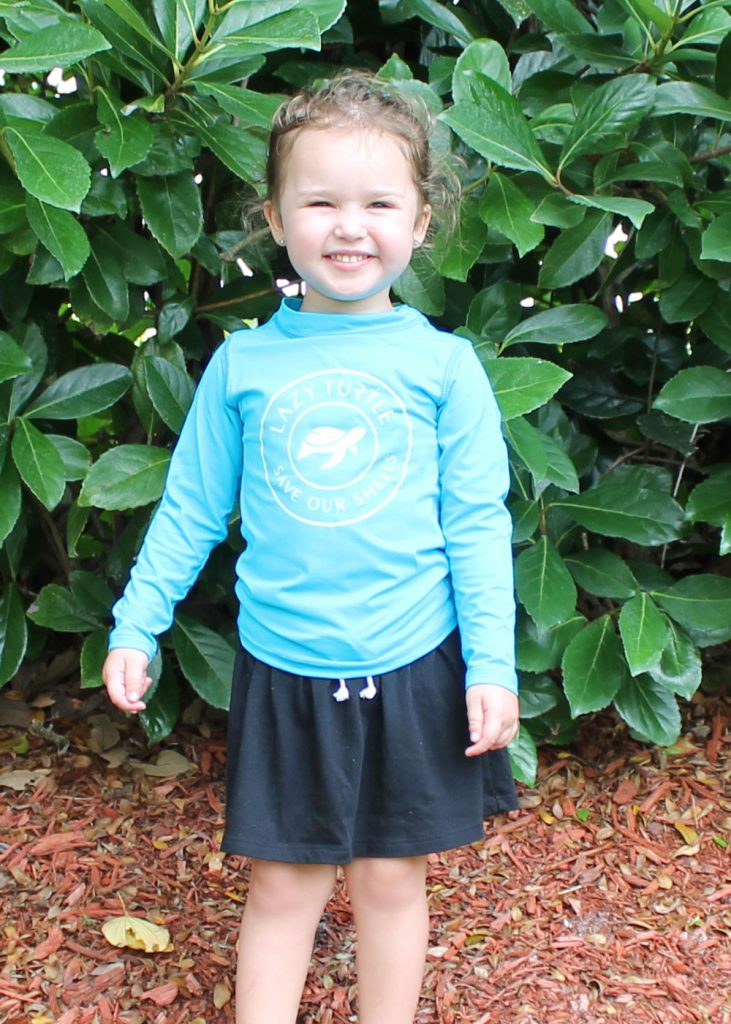 Lazy Turtle | Blue Long Sleeve Kids Shirt Front | Nature Store | Rookery Bay Research Reserve