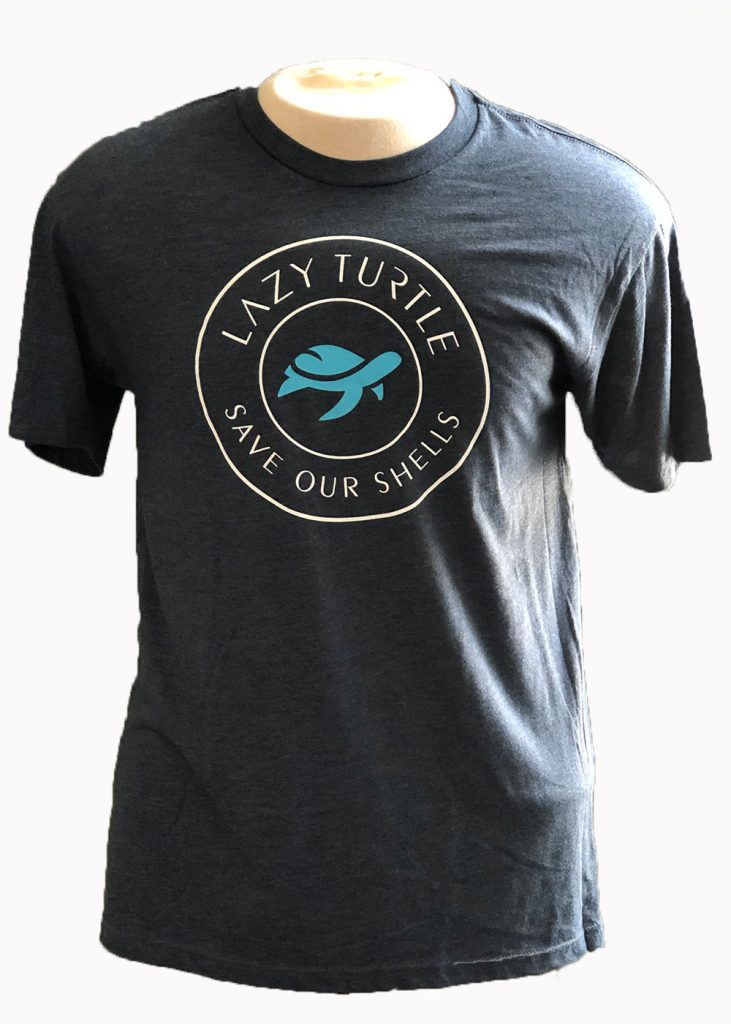 Lazy Turtle | Unisex T-shirt Front | Nature Store| Rookery Bay Research Reserve