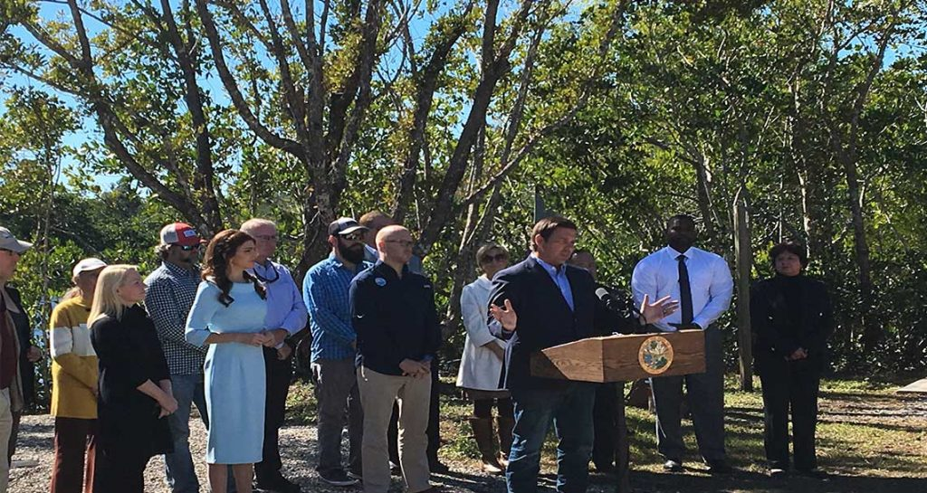 Governor DeSantis Announcement in Naples | Rookery Bay Research Reserve
