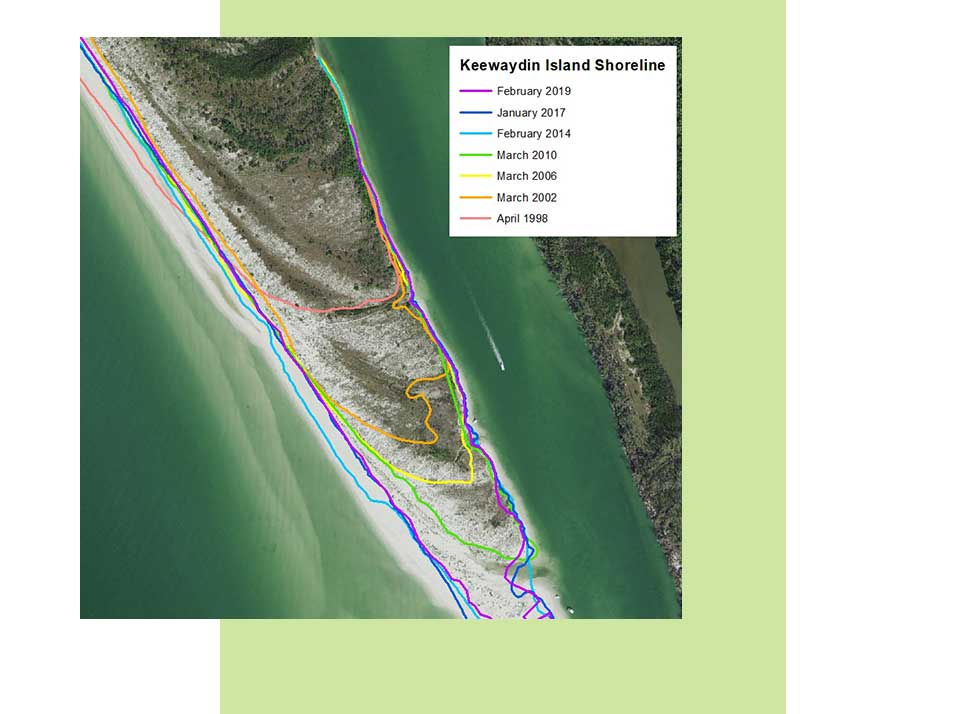 Keewaydin Island Shoreline Map | Rookery Bay Research Reserve