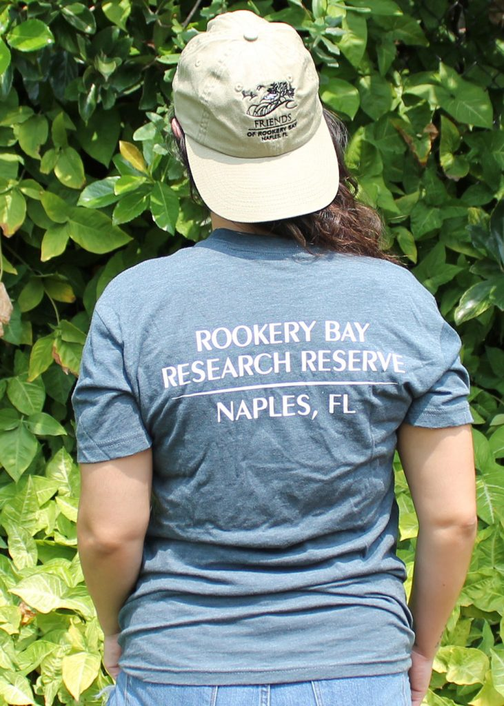 Lazy Turtle | Unisex T-shirt Back | Tan Hat | Nature Store | Rookery Bay Research Reserve