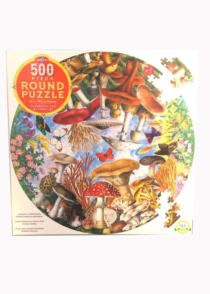 Mushroom Round Puzzle | eeBoo | Nature Store | Rookery Bay Research Reserve