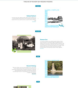Timeline | Promo Banner | Rookery Bay Research Reserve | History
