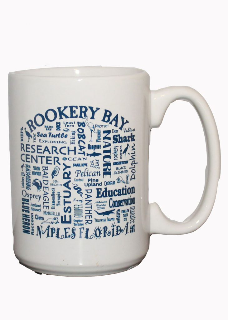 White Where Life Takes You Mug | Nature Store | Rookery Bay Research Reserve